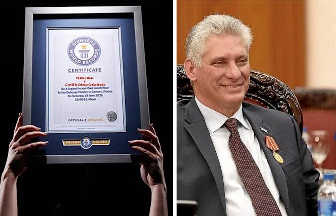 Díaz-Canel vuelve a hacerlo: récord Guinness al mandatario con más nombretes