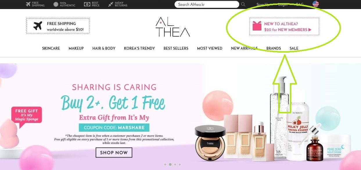 ALTHEA KOREA goes worldwide!