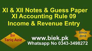 Rule 09 Income & Revenue Entry www.biek.pk