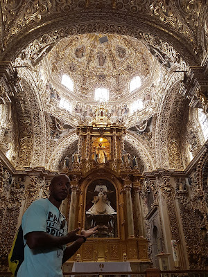 The Capilla del Rosario and it's super ornateness