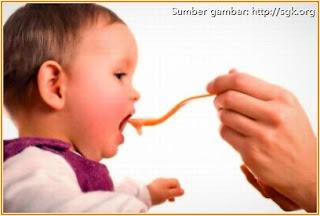 Gambar bayi makan madu