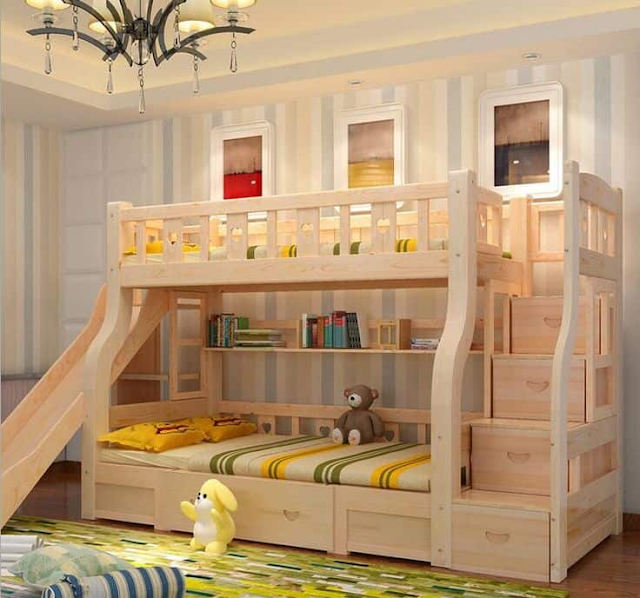 giường tầng chất liệu gỗ đẹp ấn tượng