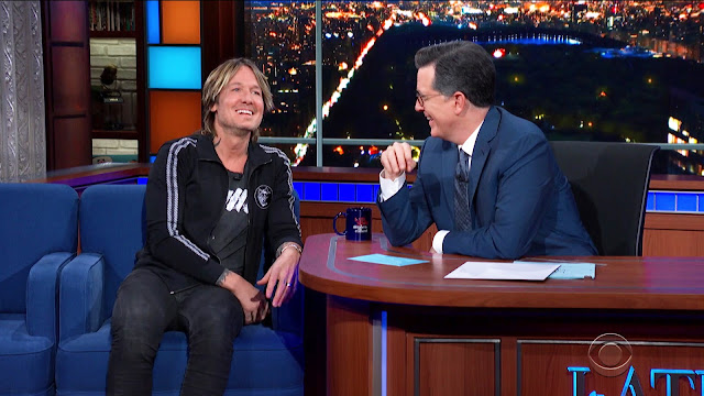 Keith Urban on Stephen Colbert  Photo: CBS