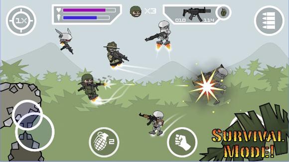 Doodle Army 2 Mini Militia Mod Apk Pro Pack Unlimited Nitro Terbaru