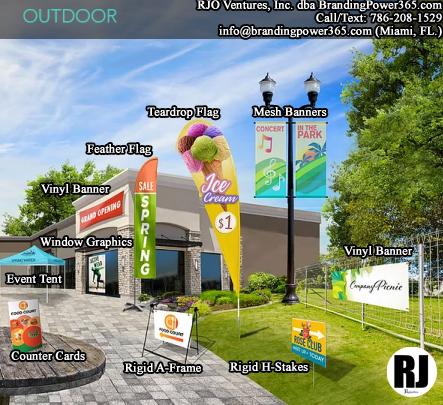 RJO Ventures, Inc. dba BrandingPower365.com (Outdoor Printing)