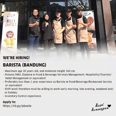 Lowongan Kerja Sebagai Barista di Bandung | lockerjob