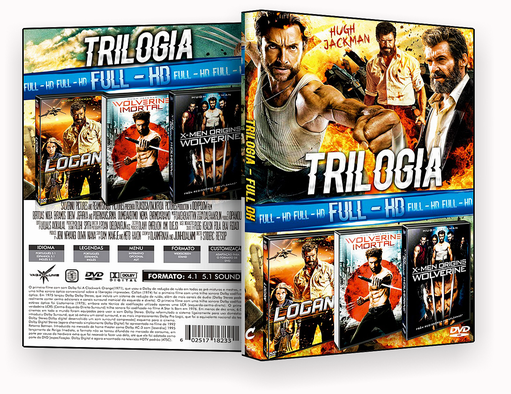 CAPA DVD – Trilogia FULL HD VOL.11 (2018) DVD-R