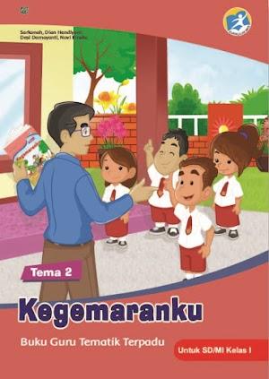 Buku Guru Tematik Terpadu Tema 2 Kegemaranku untuk SD/MI Kelas I Kurikulum 2013