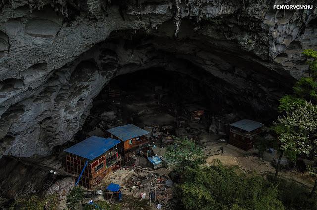 Hatalmas barlangfalu, ahol ma százan élnek