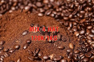 Cafe hạt mix 4 hạt mộc