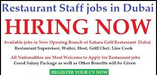 Barista and Cashier Recruitment in Restaurant/Cafe Dubai Location