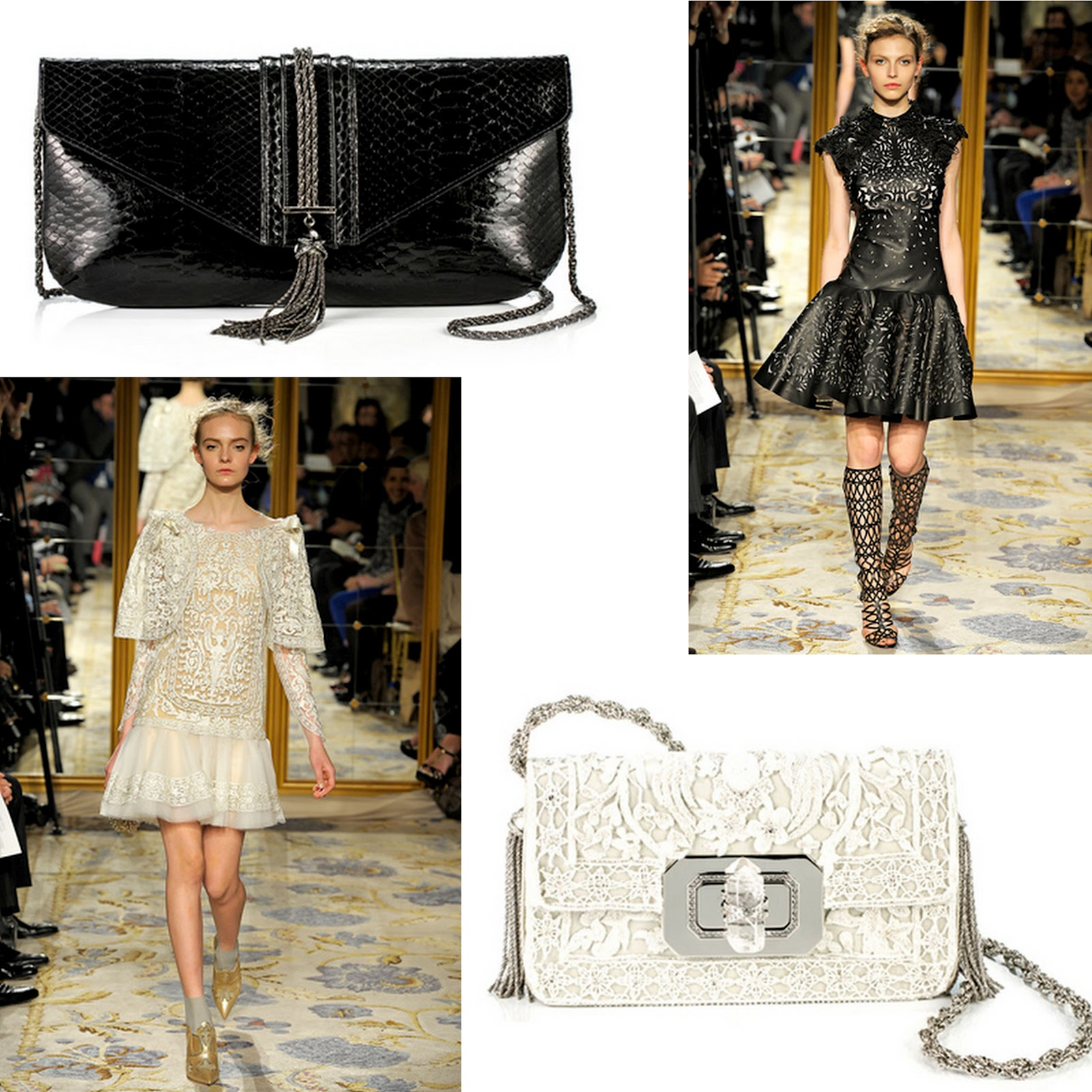 70a109fd76c3 Each ornate piece has been designed to echo the style and luxurious fabrics  of the different ensembles. Celestial couture and clutch bags...this is a  match ...