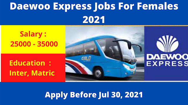 Daewoo Express Jobs For Females 2021