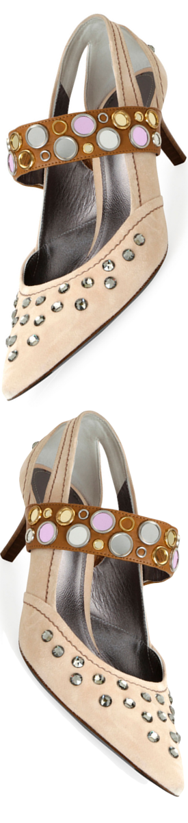Bottega Veneta Runway Mary Jane Jeweled Pump
