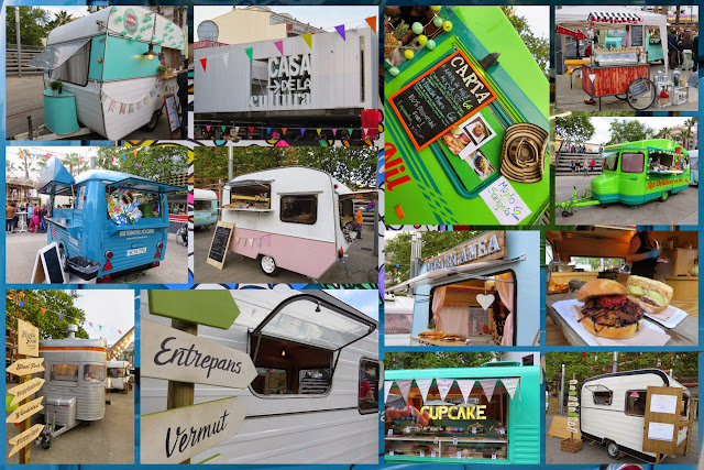 Happy Food Trucks in Lloret de Mar, Costa Brava, Spain