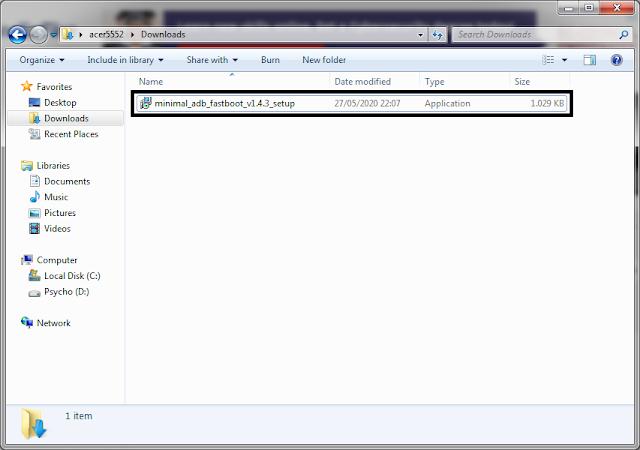 Minimal ADB dan Fastboot File