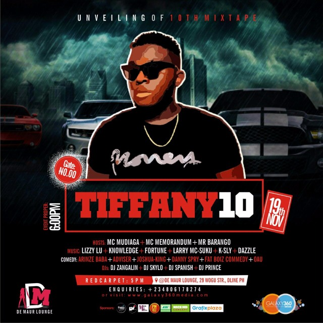 TIFFANY 10 (UNVEILING OF THE 10TH MIXTAPE) DJ VALENTINHO