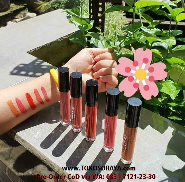 5 macam variasi warna produk make up kosmetik bibir alluvia lip cream matte