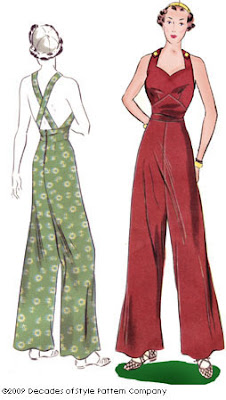 decades of style vintage overalls sewing pattern