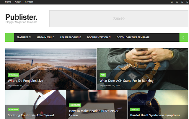 Publister Best Blogger Templates