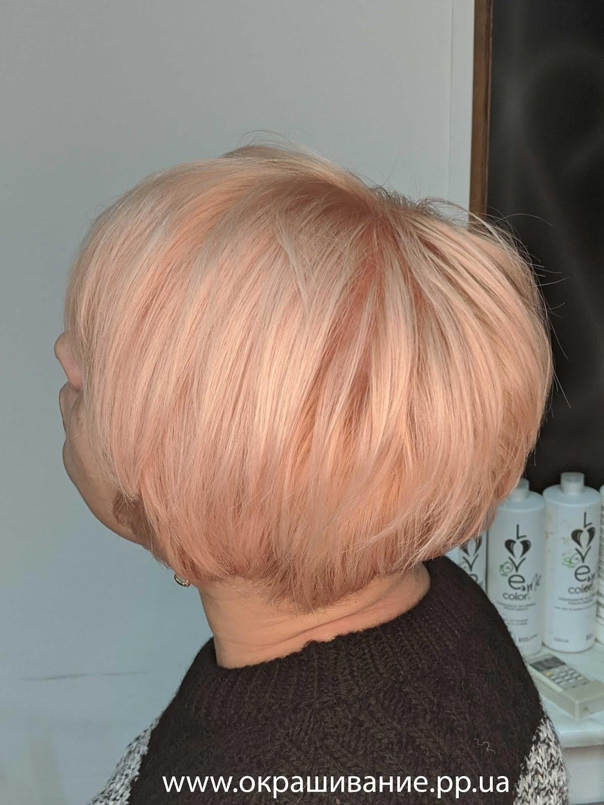 Персиковый блонд фото