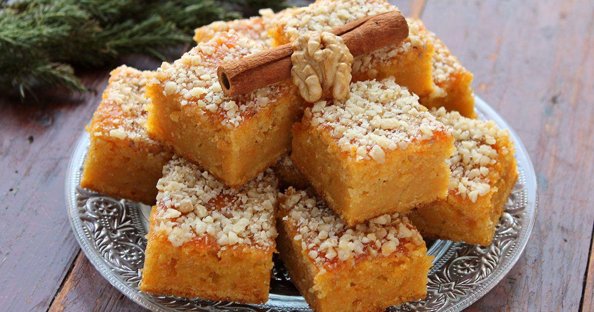 Walnut, cinnamon and carrot cake