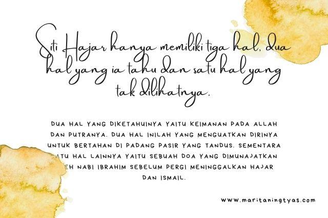 3 hal penguat Siti Hajar