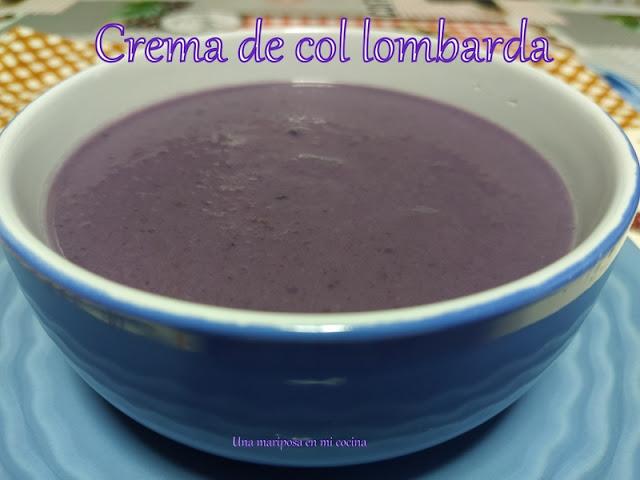 Crema De Calabacin Y Col Lombarda