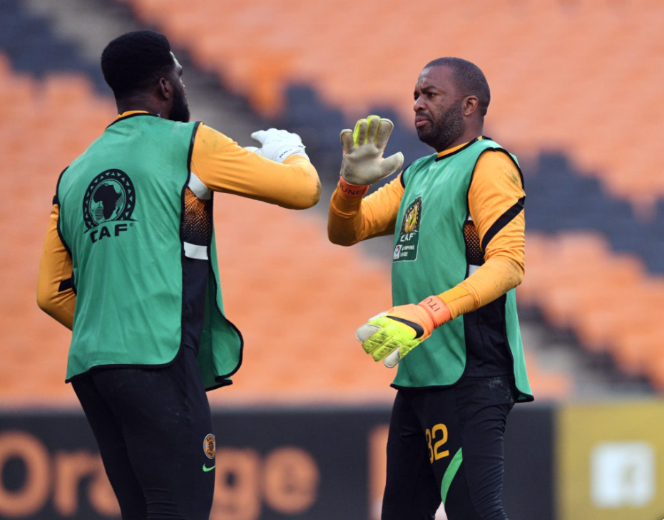 Kaizer Chiefs goalkeepers Daniel Akpeyi and Itumeleng Khune