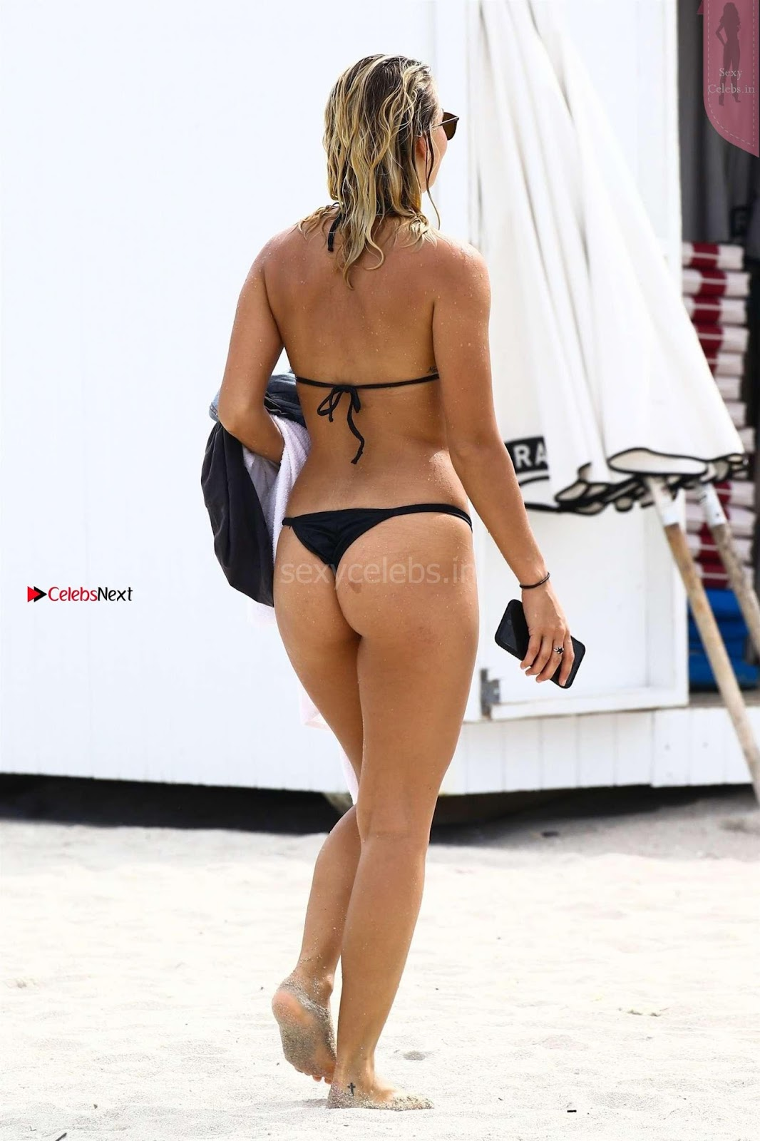 Sexy Bikini Babe Selena Webber in Black Wet Bikini Gorgeous Tits Boobs ass August 2017