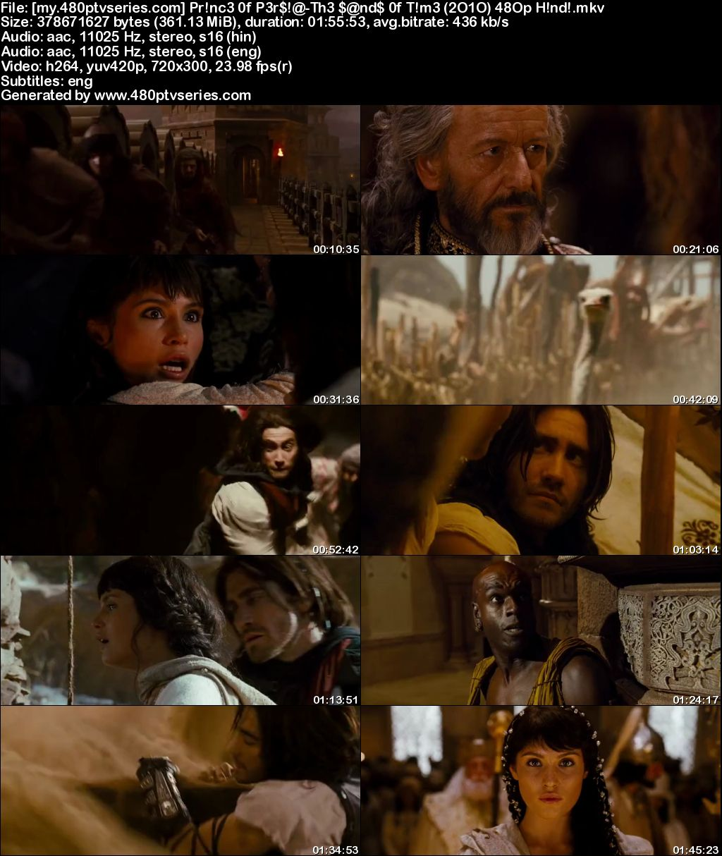 Prince of Persia: The Sands of Time (2010) 350MB Full Hindi Dual Audio Movie Download 480p Bluray Free Watch Online Full Movie Download Worldfree4u 9xmovies
