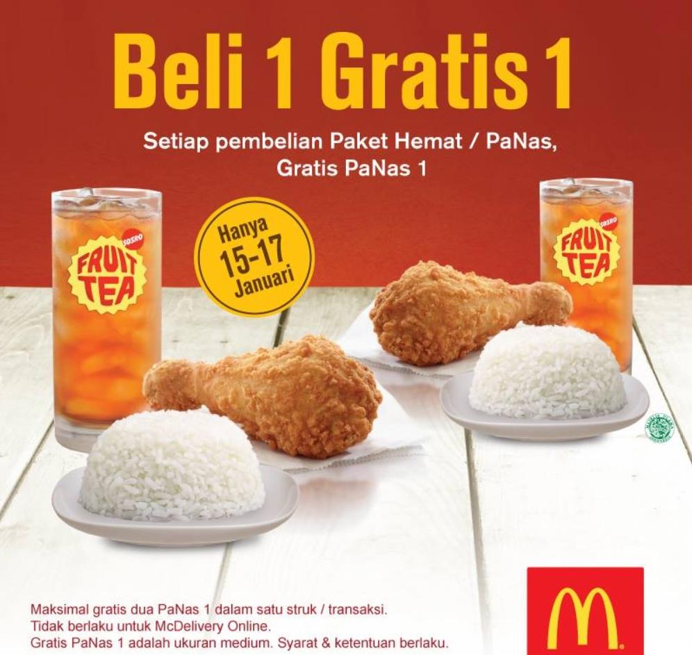 Promo McDonald Gratis Menu Panas 1 Selama 3 Hari