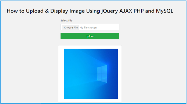 How to Upload & Display Image Using jQuery AJAX PHP and MySQL