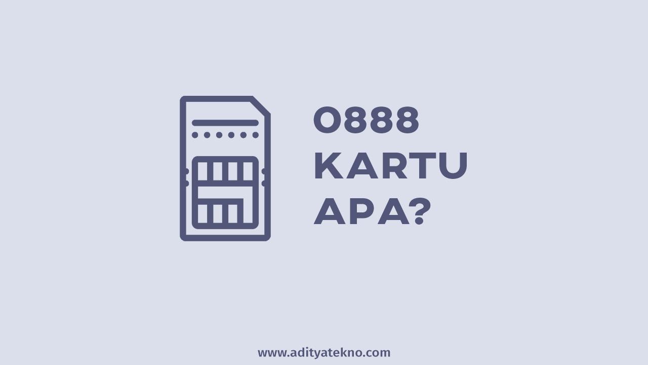 0888 Kartu Apa? Operator / Provider Apa?