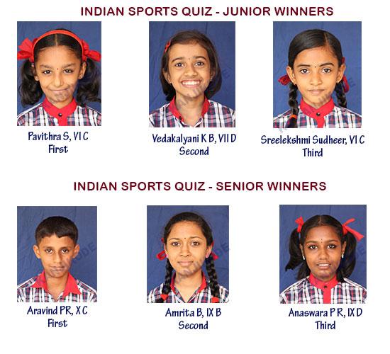Winners of Indian Sports Quiz
