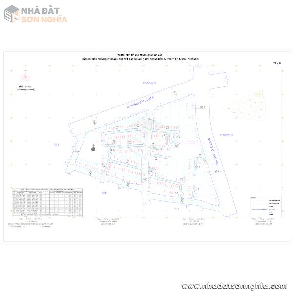 Bản đồ lộ giới hẻm phường 9 quận Gò Vấp