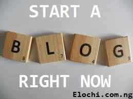 Start a blog right now
