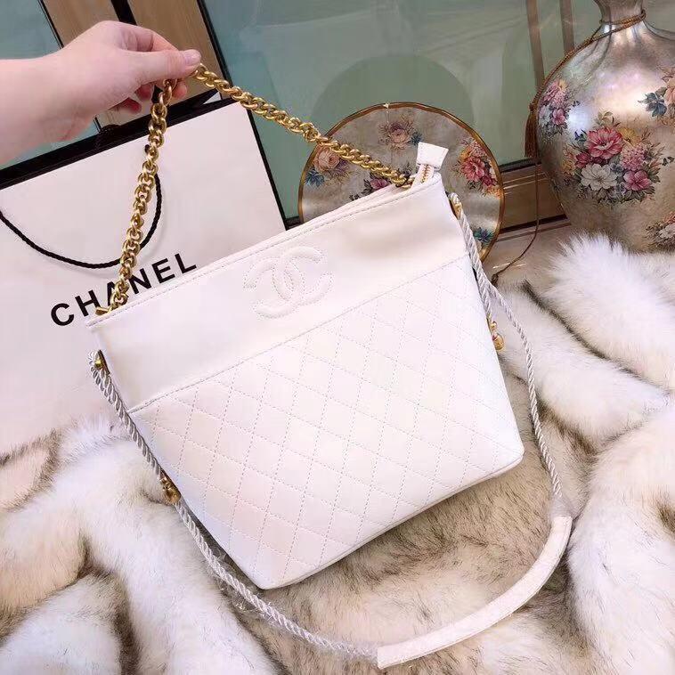 7c81d38cbdcb WE Do Love Luxury: CHANEL Hobo Handbag Crumpled Calfskin, Cotton &  Gold-Tone Metal AS0076 Y84100 94305