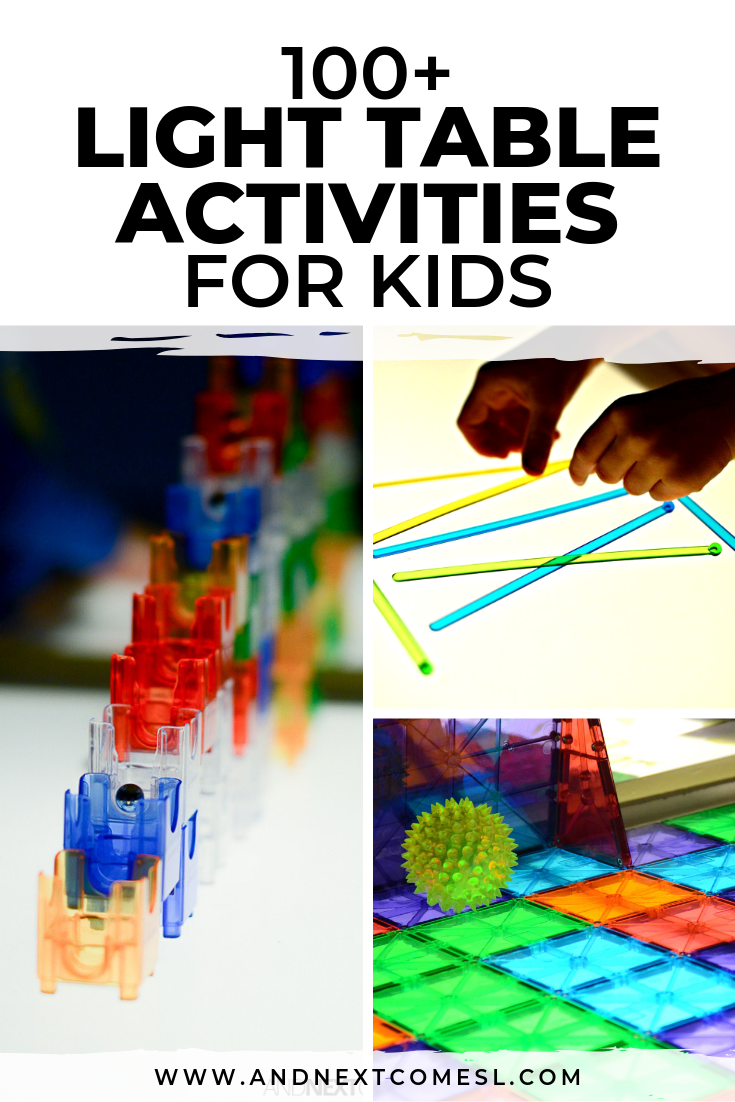 Superb 100 Light Table Activities For Kids And Next Comes L Download Free Architecture Designs Salvmadebymaigaardcom