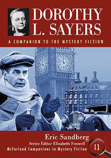 Cover of Dorothy L. Sayers: A Companion to the Mystery Series with photos of Ian Carmichael as Lord Peter Wimsey, Big Ben, and a building