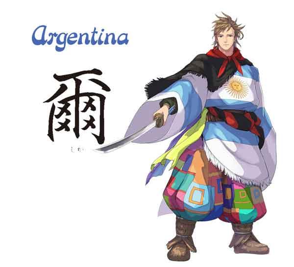 karakter anime negara dan bendera peserta olimpiade jepang 2020