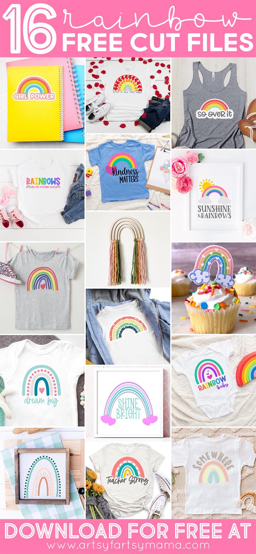 16 Free Rainbow Cut Files