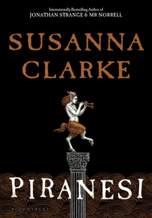 Cover of Piranesi by Susanna Clarke, showing a faun statue
