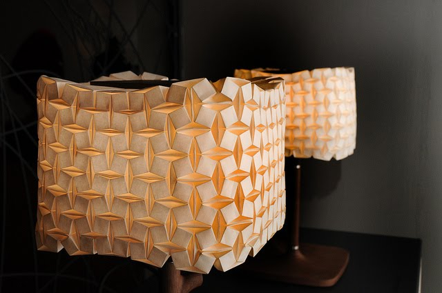 All things paper origami lampshades ilan garibi origami lampshades ilan garibi cube lamps photo hanani roichman aloadofball Image collections