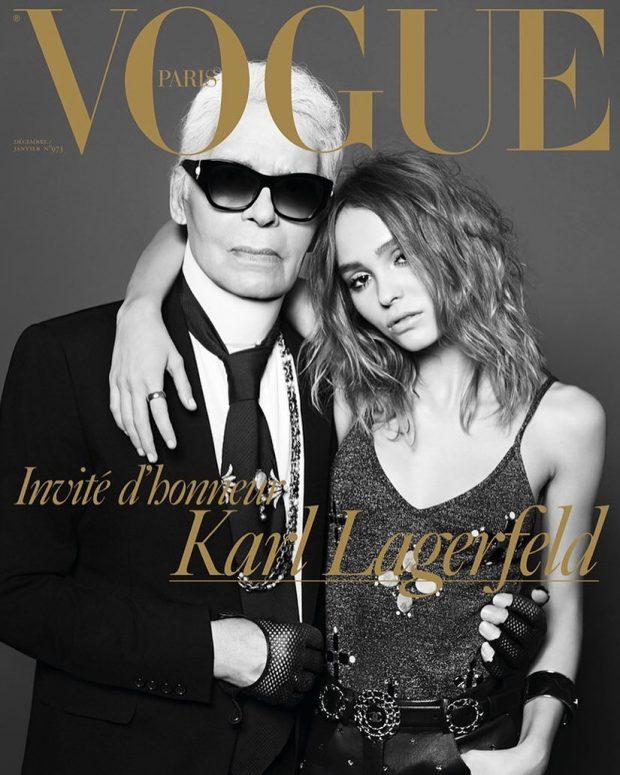 Karl Lagerfeld & Lily-Rose Depp : VOGUE Paris - Décembre/Janvier 2016/17