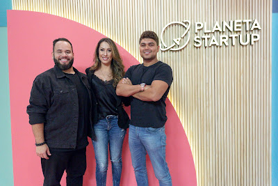 Os jurados Amure Pinho, Dani Arruda e Tallis Gomes - Crédito: Kelly Fuzaro/Band