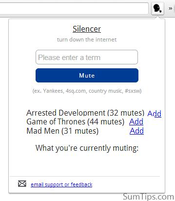 Silencer for Google Chrome