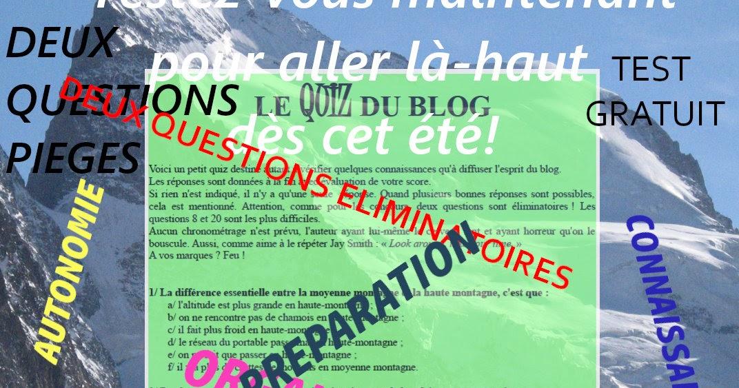Le Quiz du blog