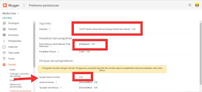 Tag pengalihan khusus di blogger