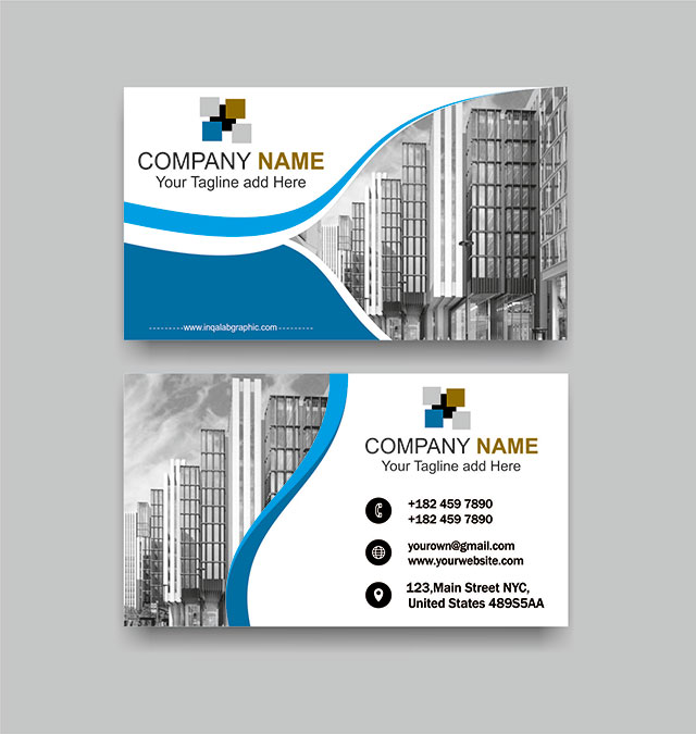 Modern Business Card Template Free Vector Cdr file Download